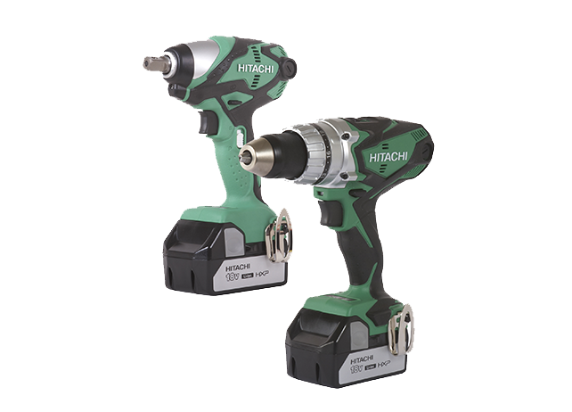 ET-KC18DESLM 1/2-in. 18 Volt Cordless Impact Wrench and Driver Drill Combo Kit